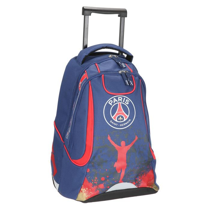 psg sac dos roulettes 47cm enfant gar on bleu et rouge achat vente sac dos. Black Bedroom Furniture Sets. Home Design Ideas