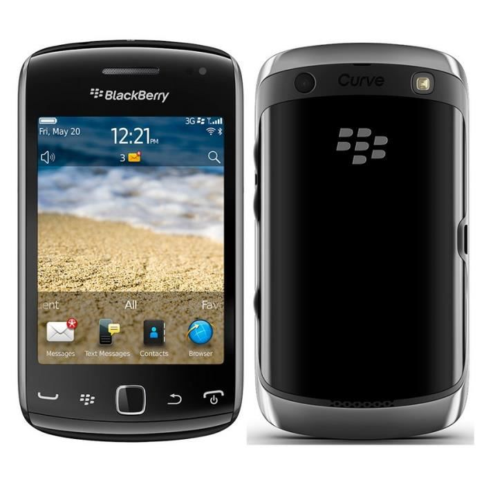 telephonie telephone mobile blackberry curve  black promotion f bla