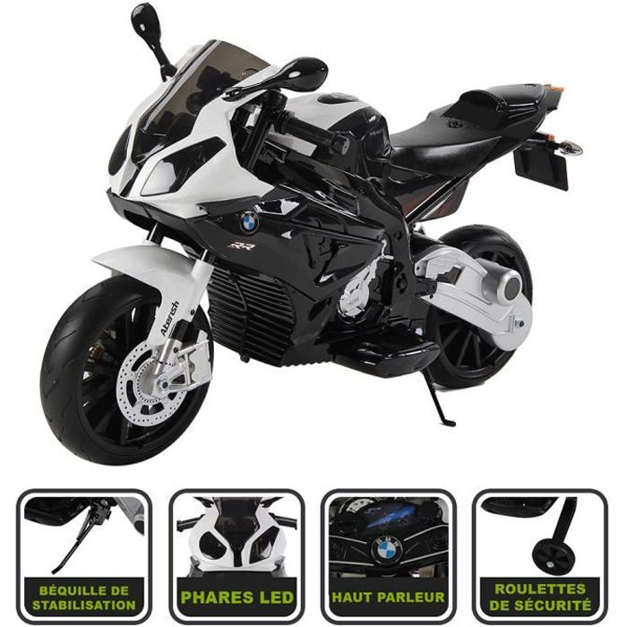 moto lectrique noir 12v licence bmw achat vente moto scooter cdiscount. Black Bedroom Furniture Sets. Home Design Ideas