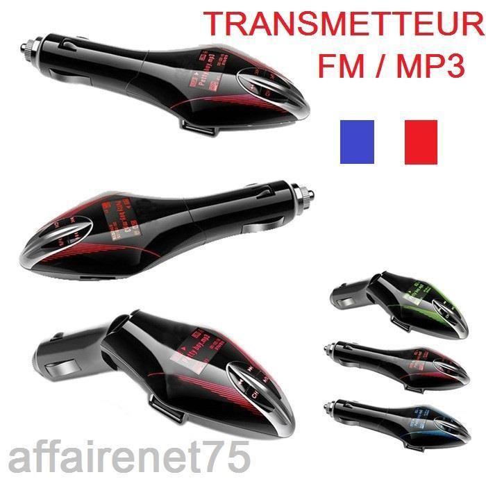 transmetteur fm mp3 emetteur radio transmetteur fm prix pas cher cdiscount. Black Bedroom Furniture Sets. Home Design Ideas