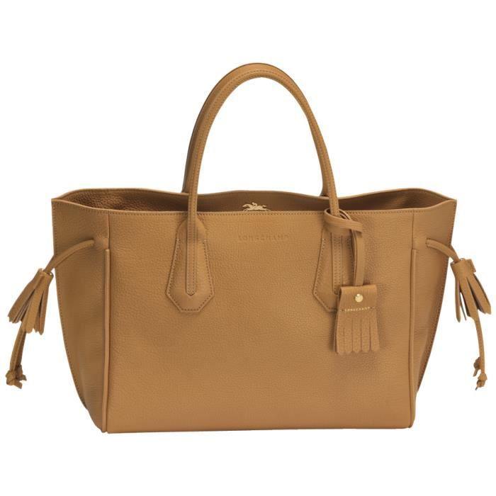 LONGCHAMP - sac femme porté main en cuir - CAMEL PENELOPE - Achat ...