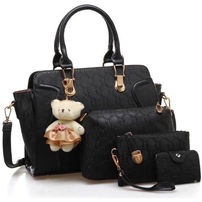 SAC À MAIN LULUA Set de sacs Femme  - Porté épaule - Noir