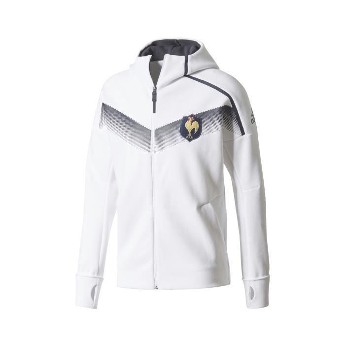 ad1c1a4bb1baa Veste Anthem Rugby France FFR Blanc - Prix pas cher - Cdiscount