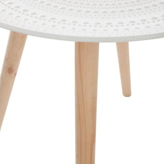 Table basse Mileo Nomade Autres Beige, Blanc - Achat / Vente table ...