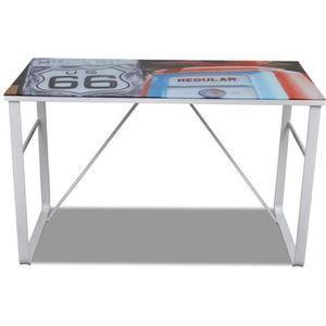 BUREAU  Bureau table meuble travail informatique rectangul