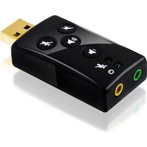 CARTE SON EXTERNE Carte son USB 7.1 externe | son 3D Surround dynami