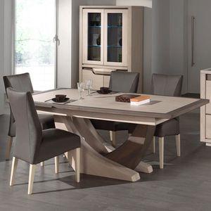 TABLE À MANGER SEULE Table extensible contemporaine couleur bois MELISA