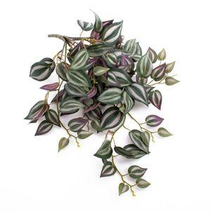 FLEUR ARTIFICIELLE Tradescantia artificiel PACO, vert-blanc-violet, 5
