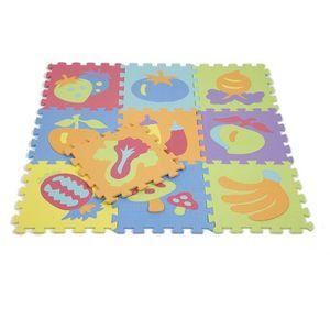 TAPIS PUZZLE 10 pièce de Tapis Puzzle Légumes Epais 9mm 0.9m² J