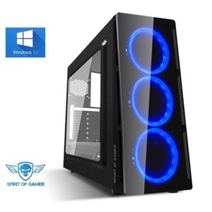 UNITÉ CENTRALE  Ordinateur Pc Gamer Deathmatch Blue AMD Ryzen 5 24