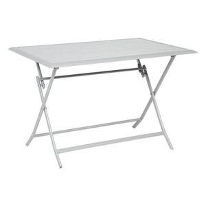 TABLE DE JARDIN  TABLE AZUA HESPERIDE PLIANTE ALU SILVER 4 PLACES