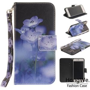 HOUSSE - ÉTUI Pour Apple iPhone 7-8 Fleur bleue Cas de téléphone