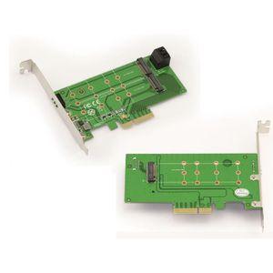 CARTE CONTROLEUR Carte Controleur PCIe pour SSD M.2 et HDD SATA 2 p