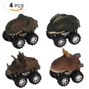 VOITURE - CAMION Jouet Voiture Dinosaures, 4 Pièces Miniature Vehic