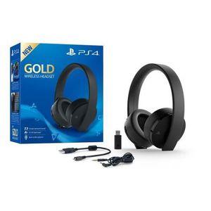 INSTRUMENT POUR JEU Casque PS4 sans fil Gold Edition Sony + + Code For