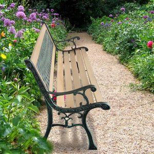 Banc de jardin en bois et fonte - Achat / Vente Banc de ...