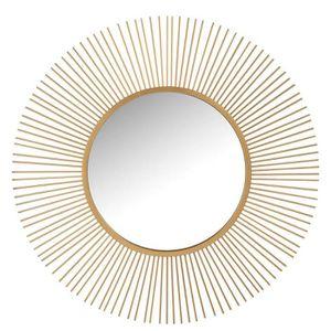 MIROIR Miroir soleil Rond Métal doré N°2 - POSAVINA - L 1