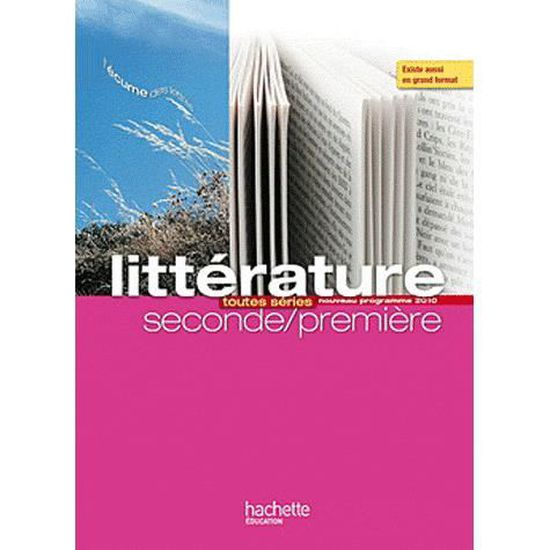 Litterature Toutes Series 2e 1e L Ecume Des Lett