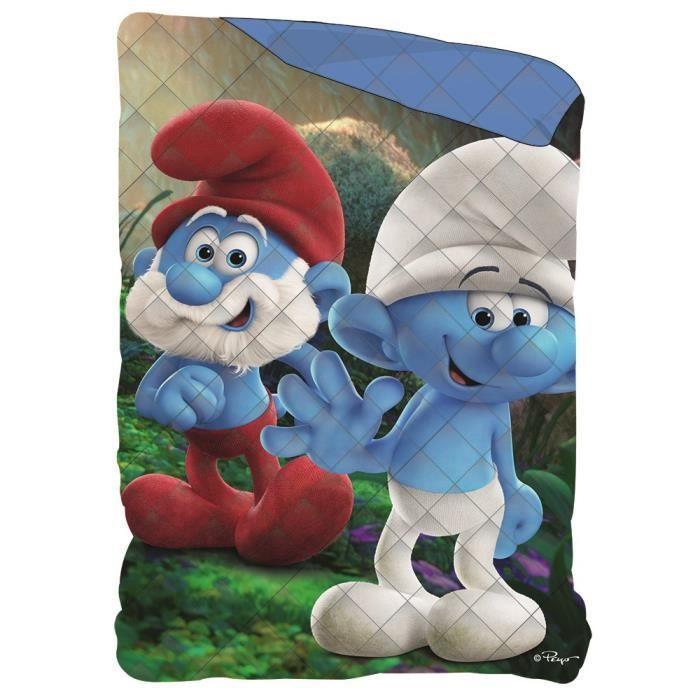 COUETTE SCHTROUMPF Couette Imprimée 140x200 cm - Bleu