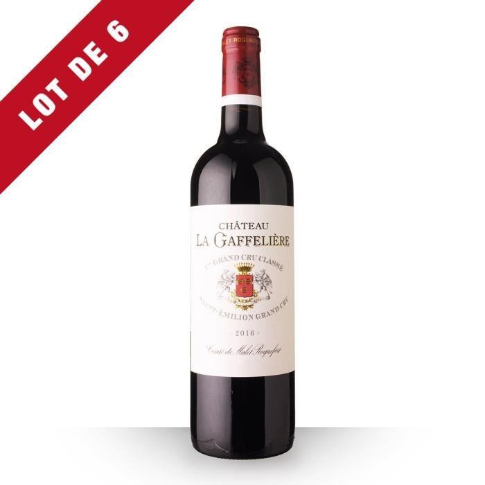 Lot de 6 - Château la Gaffelière 2016 AOC Saint-Emilion Grand Cru - 6x75cl - Vin Rouge