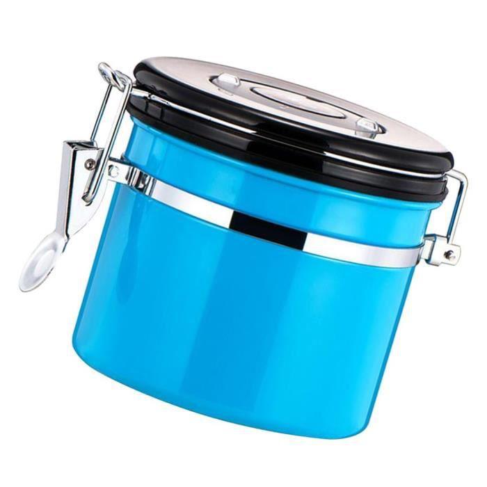 Pot À Thé Café Épice Acier Inoxydable Accessoire De Cuisine Avec Couvercle Bleu
