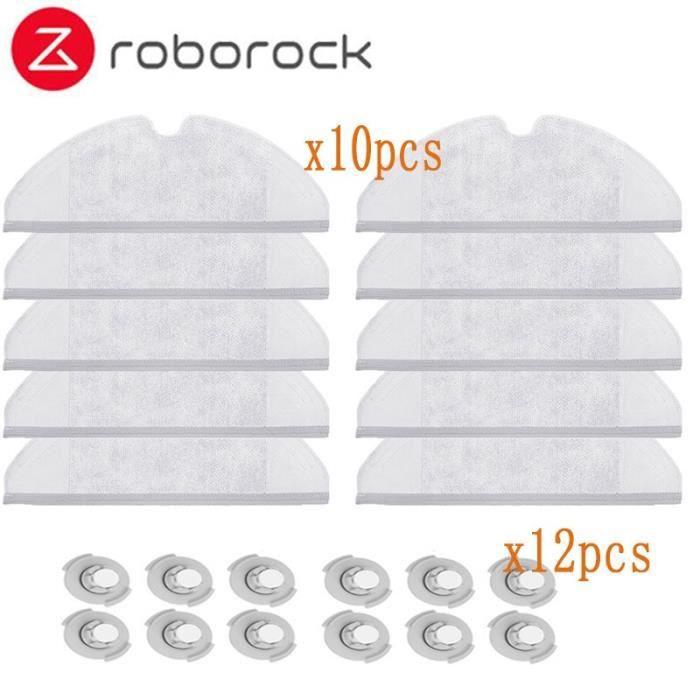Kit de pièces de rechange pour aspirateur Robot Xiaomi Roborock S50 S51, 10 * serpillère et 12 * filtre de réservoir d&#*DI7167