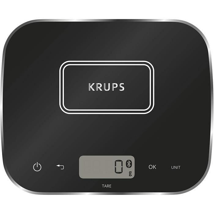 BALANCE ANALOGIQUE Krups XF5548 Prep&Cook Balance de cuisine Bluetooth compatible avec Prep & Cook et Cook4Me App Noir299