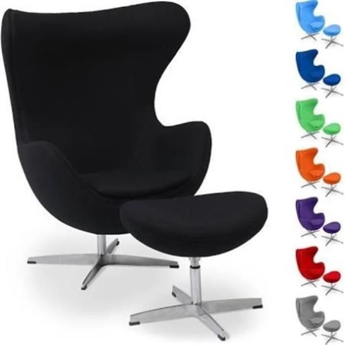 Fauteuil Egg Chair Arne Jacobsen Replique Ottoman