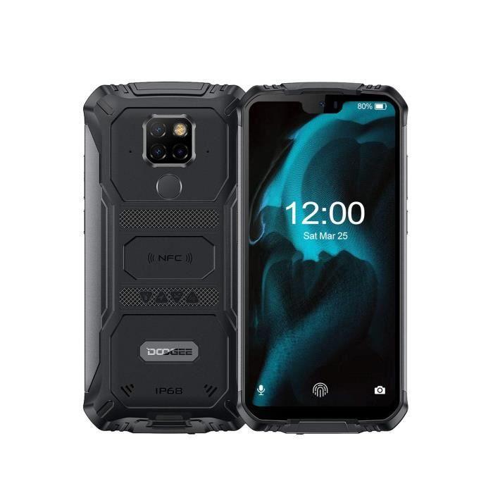 DOOGEE S68 Pro Telephone Portable Incassable 4G, Helio P70 Octa Core IP68-IP69K Antichoc 6 Go + 128 Go, Android 9.0 Smartphone 6300m