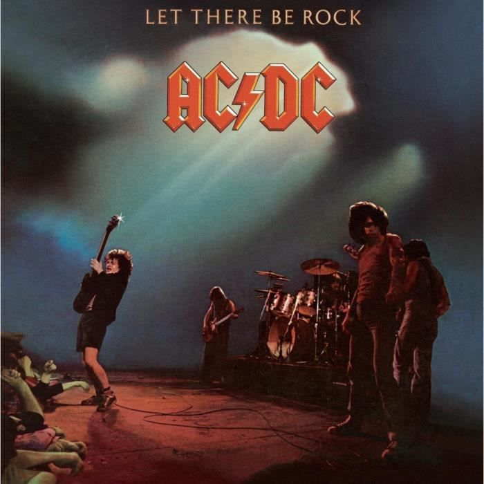 Poster Affiche ACDC Vintage Album Cover Let There Be Rock Hard Rock 31cm x 31cm