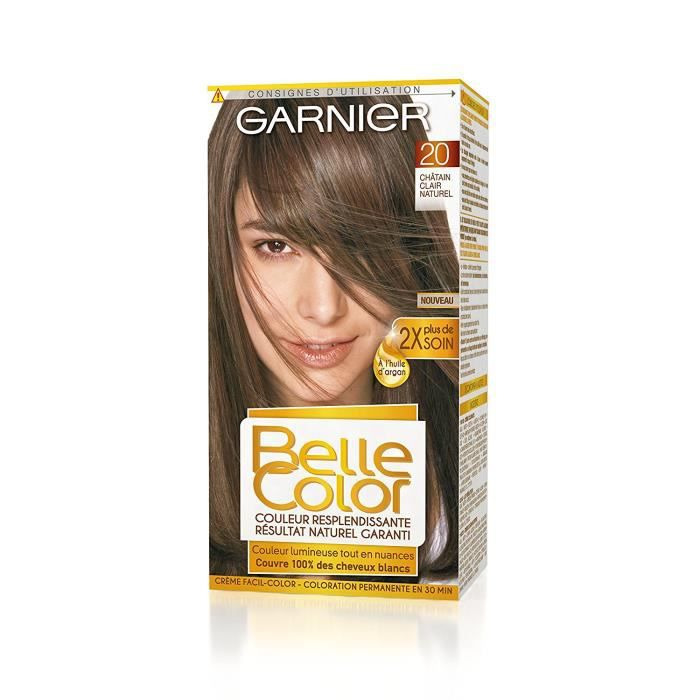 Garnier - Belle Color - Coloration permanente Châtain - 20 Châtain clair naturel