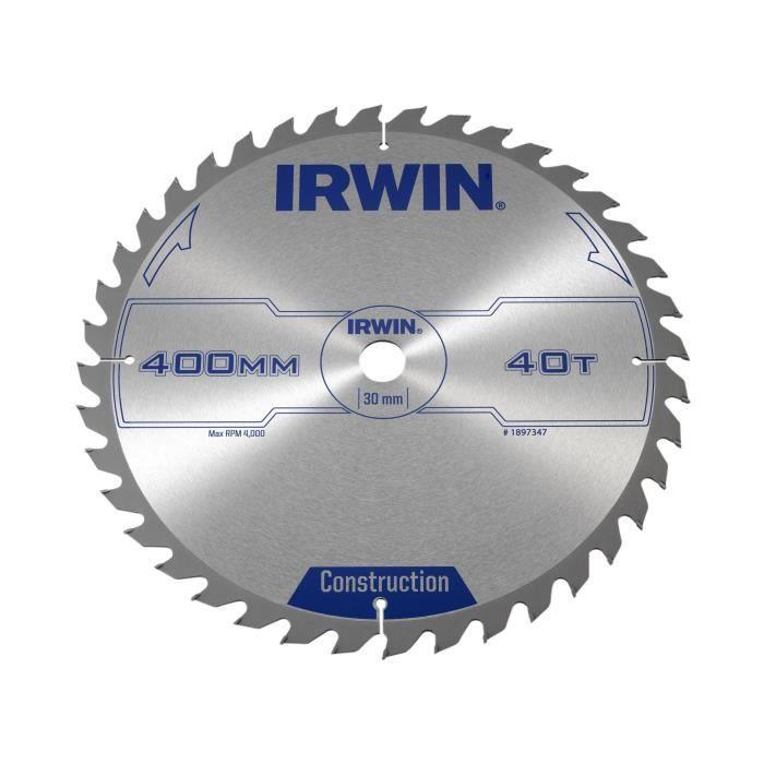 IRWIN lame de scie circulaire 400 x 30 mm x 40T ATB IRW1897347