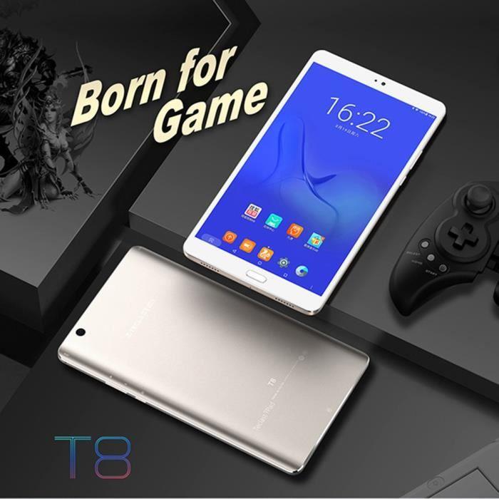 Teclast Smart Tablet PC 10,1 pouces écran 64G 220V-240V Tablet PC Compatible pour Android, blanc et argent