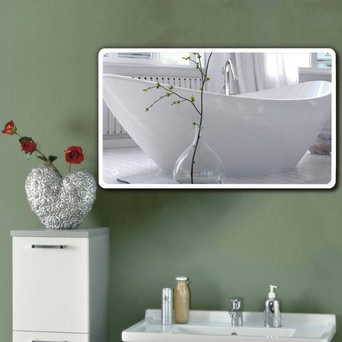 NOUVEAU design Miroir de salle de bains avec LED éclairage 70x120cm Hi-Tech Miroir mural