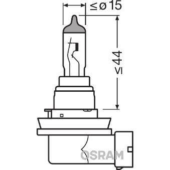 OSRAM Lampe de phare halogène Original H8