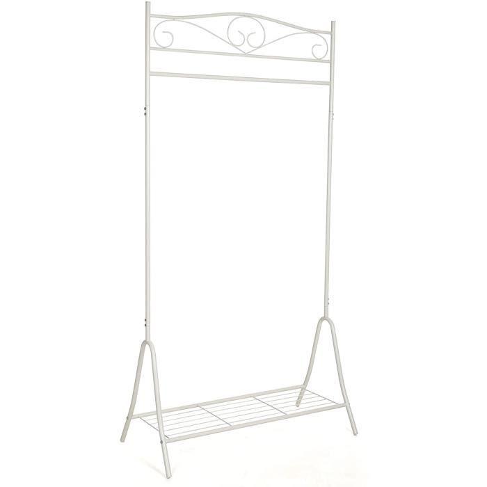 Songmics Portant Penderie à vêtement Métal étendoir à linge, séchoir à linge blanc HSR01W