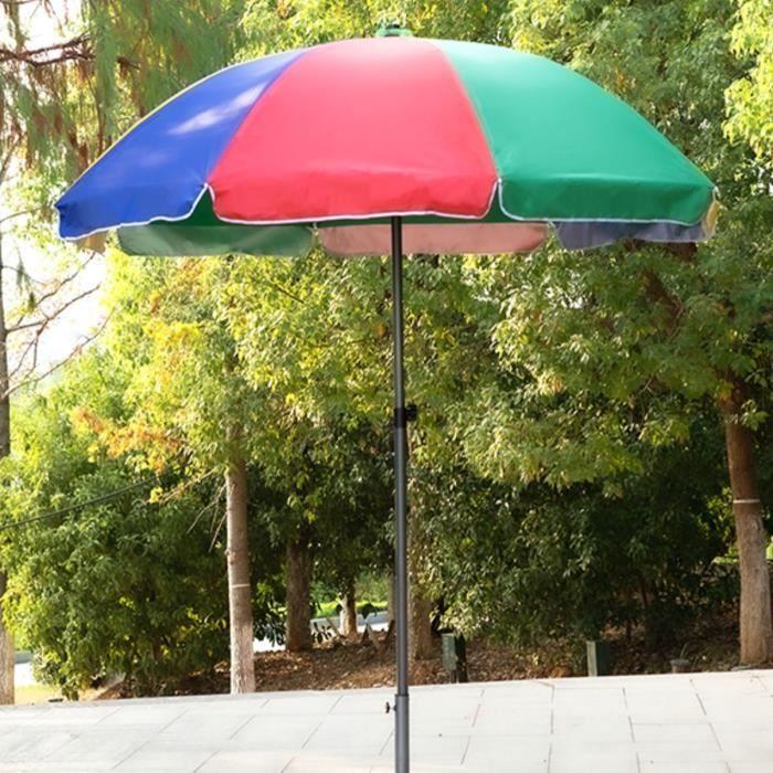 TEMPSA Parasol de Balcon Jardin Extérieur - Diamètre 180cm - Tissu Oxford - Imperméable Coloré