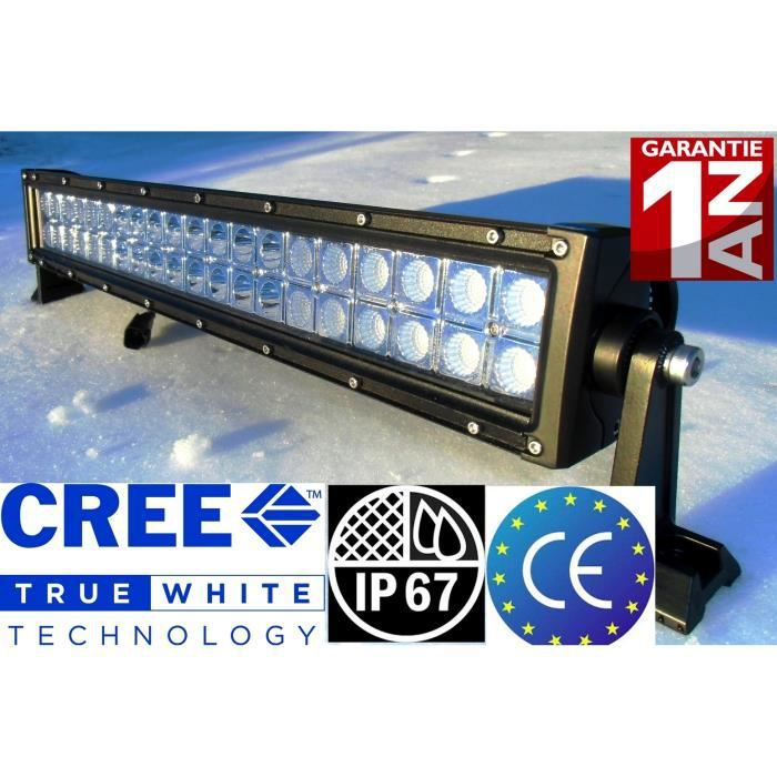 rampe cree led us 22 55 cm barre120w 4x4 quad achat vente phares optiques rampe cree led. Black Bedroom Furniture Sets. Home Design Ideas