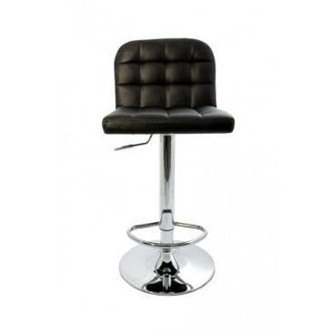 si ge de bar capitonn sabrina noir achat vente tabouret de bar cdiscount. Black Bedroom Furniture Sets. Home Design Ideas