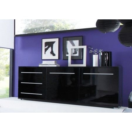 buffet design cavalli noir laqu achat vente buffet. Black Bedroom Furniture Sets. Home Design Ideas