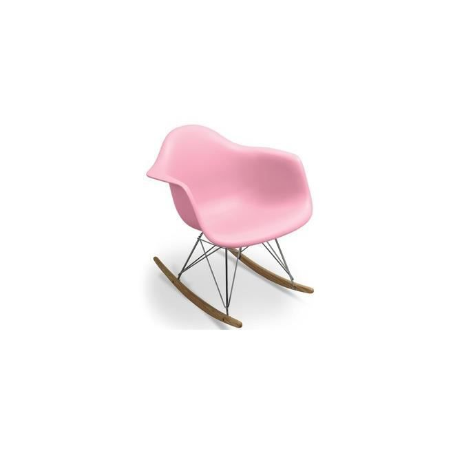 Chaise design bascule inspir e eames rar rose enfant for Chaise a bascule enfant