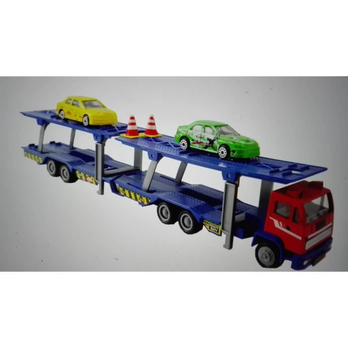 speed track camion porte voitures 34 cm 2 voitures ty19104 achat vente figurine. Black Bedroom Furniture Sets. Home Design Ideas