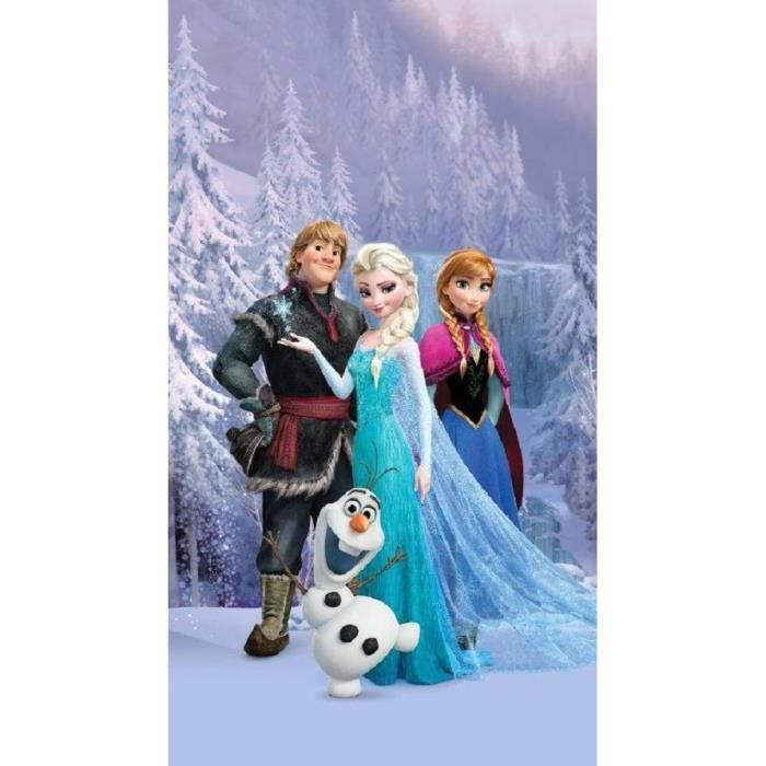 disney frozen la reine des neiges set 1 rideau pour chambre d 39 enfant porte fran aise. Black Bedroom Furniture Sets. Home Design Ideas