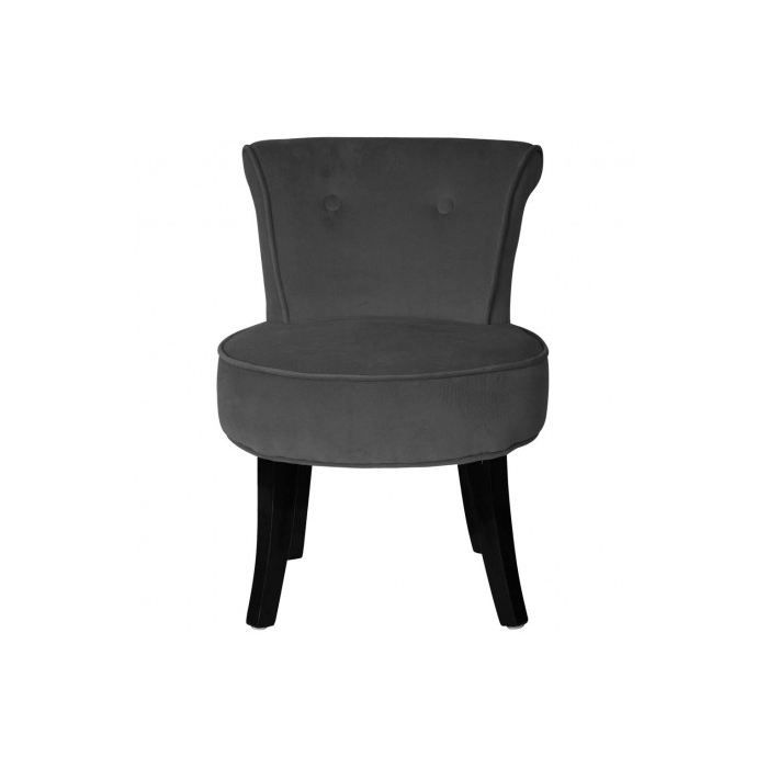 petit fauteuil crapaud louis velours anthracite achat. Black Bedroom Furniture Sets. Home Design Ideas