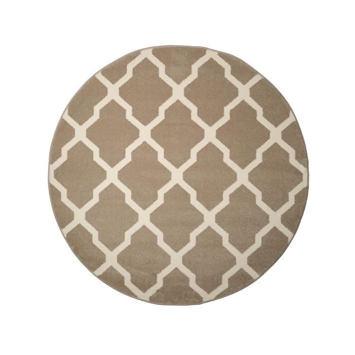 benuta tapis rond lotus beige 160 cm rond achat. Black Bedroom Furniture Sets. Home Design Ideas