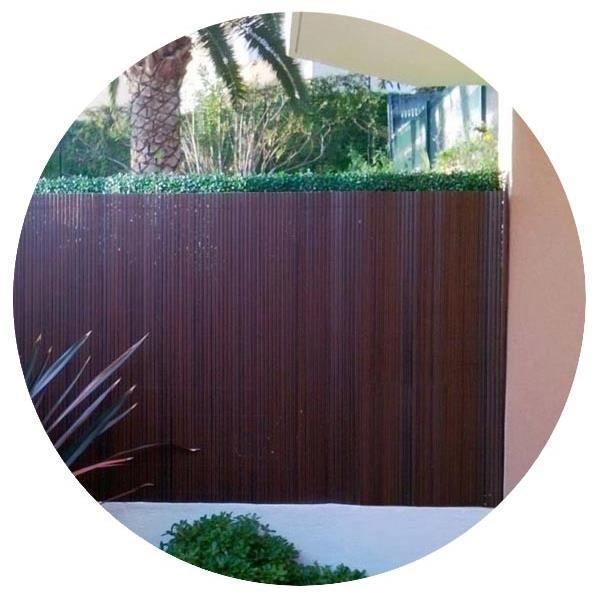 CLÔTURE - GRILLAGE Canisse PVC Noyer H 1,50m X 3m