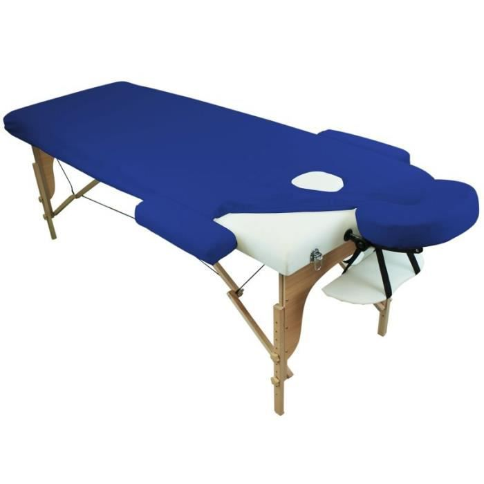 drap housse de protection 4 pi ces en ponge pour table de massage bleu azur achat vente. Black Bedroom Furniture Sets. Home Design Ideas