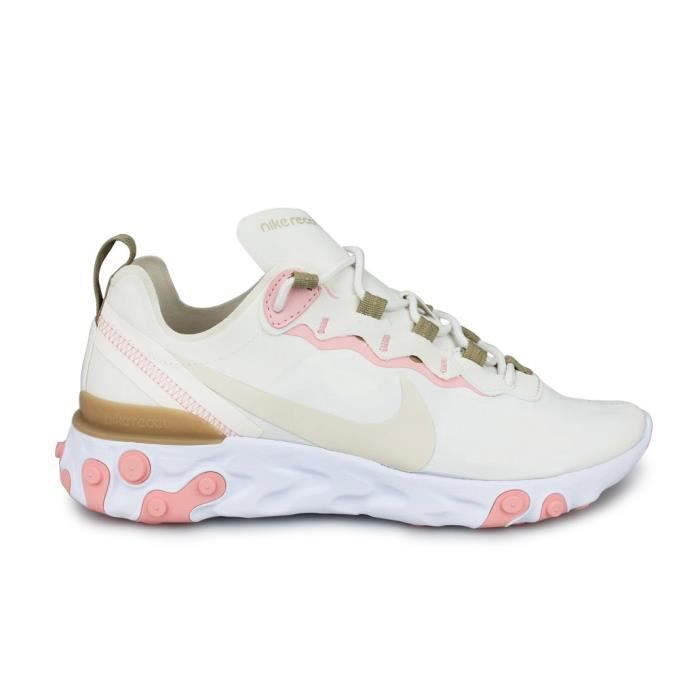 Baskets Nike Wn's React Element 55 Beige, rose - Cdiscount Chaussures