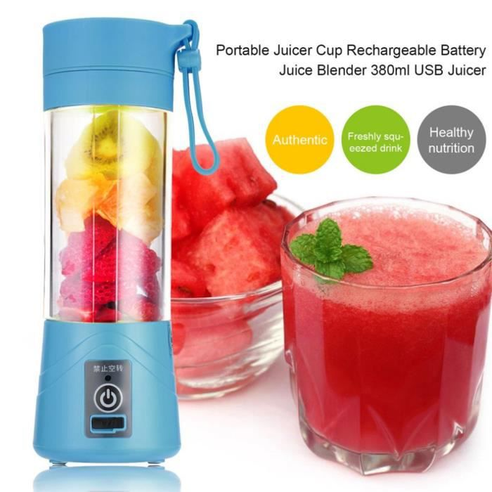 Rechargeable USB Portable blenderjuicer Coupe Fruit Smoothie Baby Food mélange NEUF