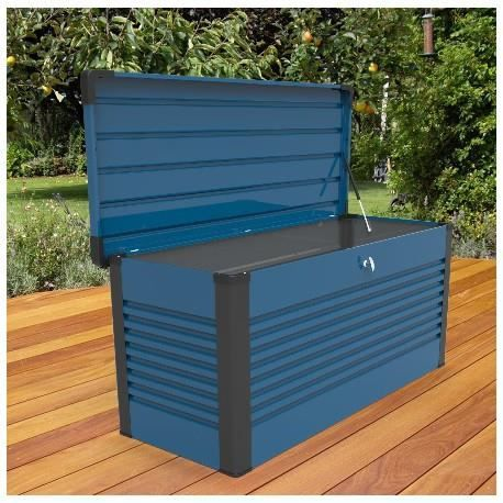 coffre en m tal bleu 1000l patio box trimetals achat. Black Bedroom Furniture Sets. Home Design Ideas